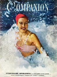 Пляжная мода на обложках винтажных журналов